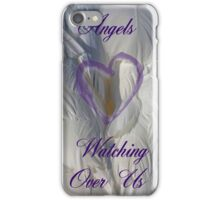 Angels watching over us iPhone Case/Skin