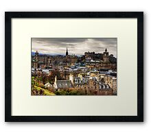 Grey Skies over the Old Town Framed Print