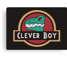 Dino Charge Green - Clever Boy Canvas Print