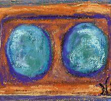 Stone Fruit (pastel) by Niki Hilsabeck