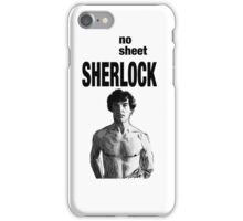 No Sheet, Sherlock iPhone Case/Skin