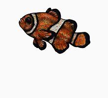Coloured Clownfish Line Drawing (Airbrush) Unisex T-Shirt