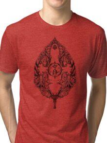 Serenity Victoriana - Black Tri-blend T-Shirt