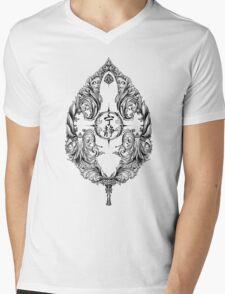Serenity Victoriana - Black Mens V-Neck T-Shirt