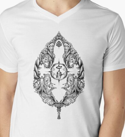 Serenity Victoriana - Black Mens V-Neck T-Shirt