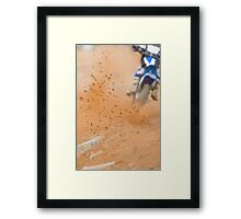 Motocross Roost Framed Print