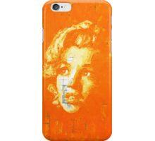 Marilyn_Orange iPhone Case/Skin