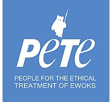 Star Wars PETA Parody (with text) Photographic Print