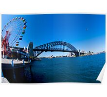 Sydney Harbor Fisheye Poster