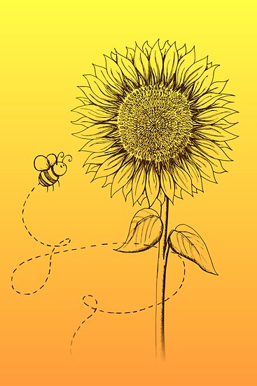 Sunny Bee - two lof bees by Josh Bush