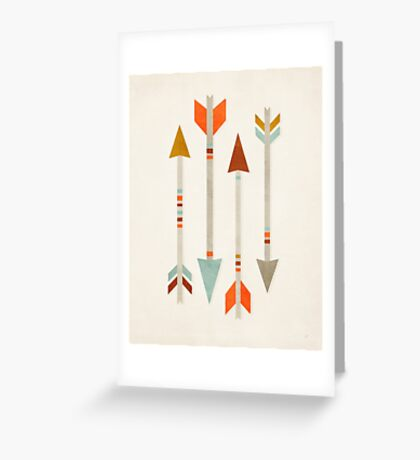 Four Arrows Greeting Card