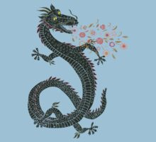 Dragon, Flower Breathing One Piece - Short Sleeve