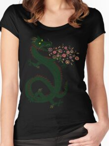 Dragon, Flower Breathing Women's Fitted Scoop T-Shirt