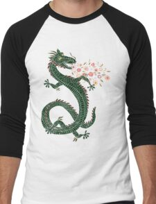 Dragon, Flower Breathing Men's Baseball ¾ T-Shirt