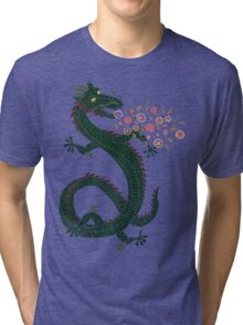 Dragon, Flower Breathing Tri-blend T-Shirt