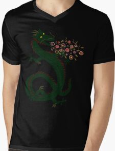 Dragon, Flower Breathing Mens V-Neck T-Shirt