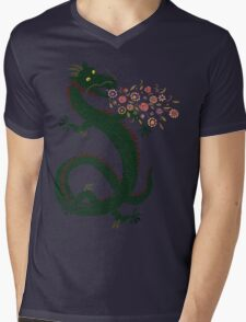 Dragon, Flower Breathing Mens V-Neck T-Shirt