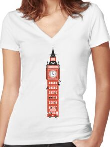Big Ben Bus Women's Fitted V-Neck T-Shirt