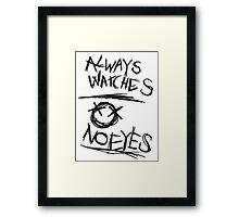 Always Watches, No Eyes - Slender Page nº 6 Framed Print