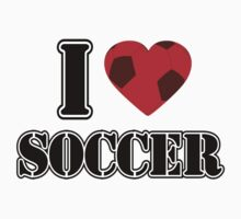 I Love Soccer - T-shirt by Nhan Ngo