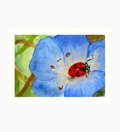 LadyBug on Morning Glory Art Print