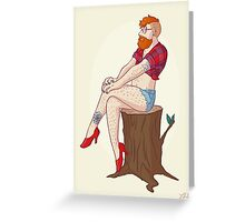 Pin-up Guy Greeting Card