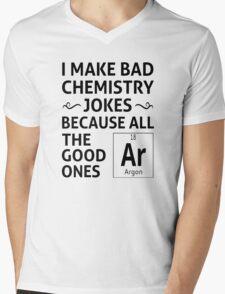 I Make Bad Chemistry Jokes Mens V-Neck T-Shirt