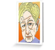 Sandy Gall Cartoon Caricature Greeting Card