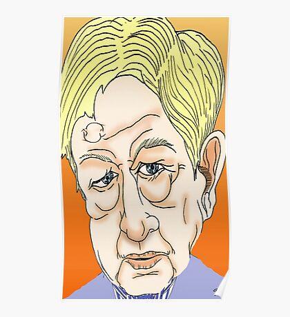 Sandy Gall Cartoon Caricature Poster