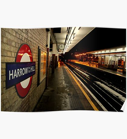 Travelling East - Harrow-On-The-Hill Poster