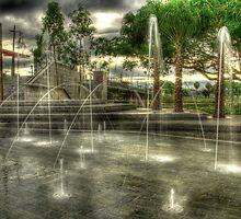 Fountain at Dawn by Stephen  Nicholson