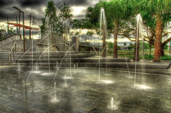 Fountain at Dawn by Stephen  Nicholson