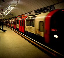 Central Line Train- Liverpool Street by rsangsterkelly