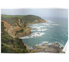Great Ocean Road coast line Poster
