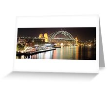 Sydney Harbour Bridge and Passenger Terminal Greeting Card