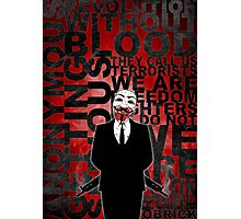 Anonymous revolution without blood ? Photographic Print