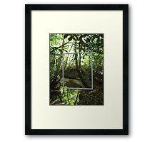 Protruding natures lines #2 Framed Print