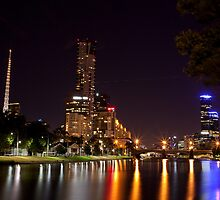 Melbourne on the Yarra by Sam Tabone