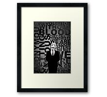Anonymous revolution without blood ? W&B Framed Print