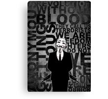 Anonymous revolution without blood ? W&B Canvas Print