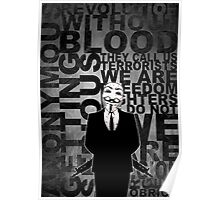 Anonymous revolution without blood ? W&B Poster