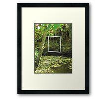 Protruding natures lines #4 Framed Print