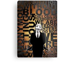 Anonymous revolution without blood ? Gold Metal Print