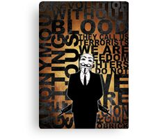 Anonymous revolution without blood ? Gold Canvas Print