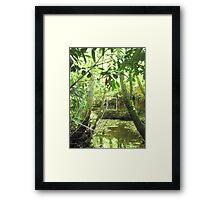 Protruding natures lines #9 Framed Print
