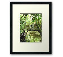 Protruding natures lines #10 Framed Print