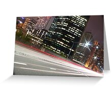 Street Lights of Sydney Greeting Card
