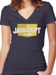 javascript developer Women's Fitted V-Neck T-Shirt