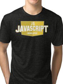 javascript developer Tri-blend T-Shirt