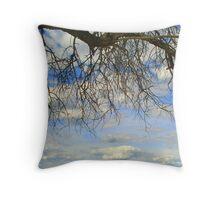 Silhouette against Namibian sky Throw Pillow
